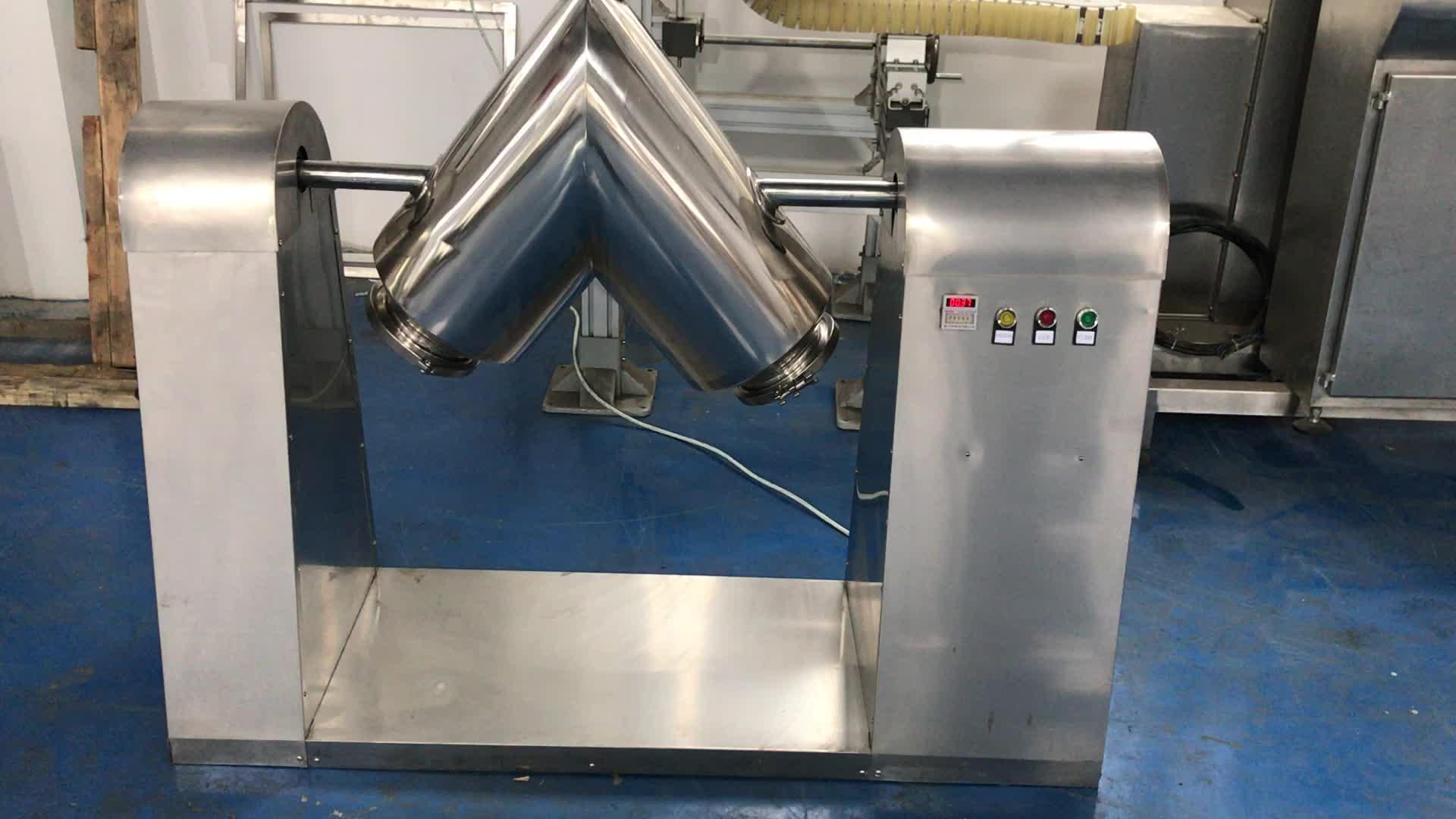 Small manual powder mixer for lab