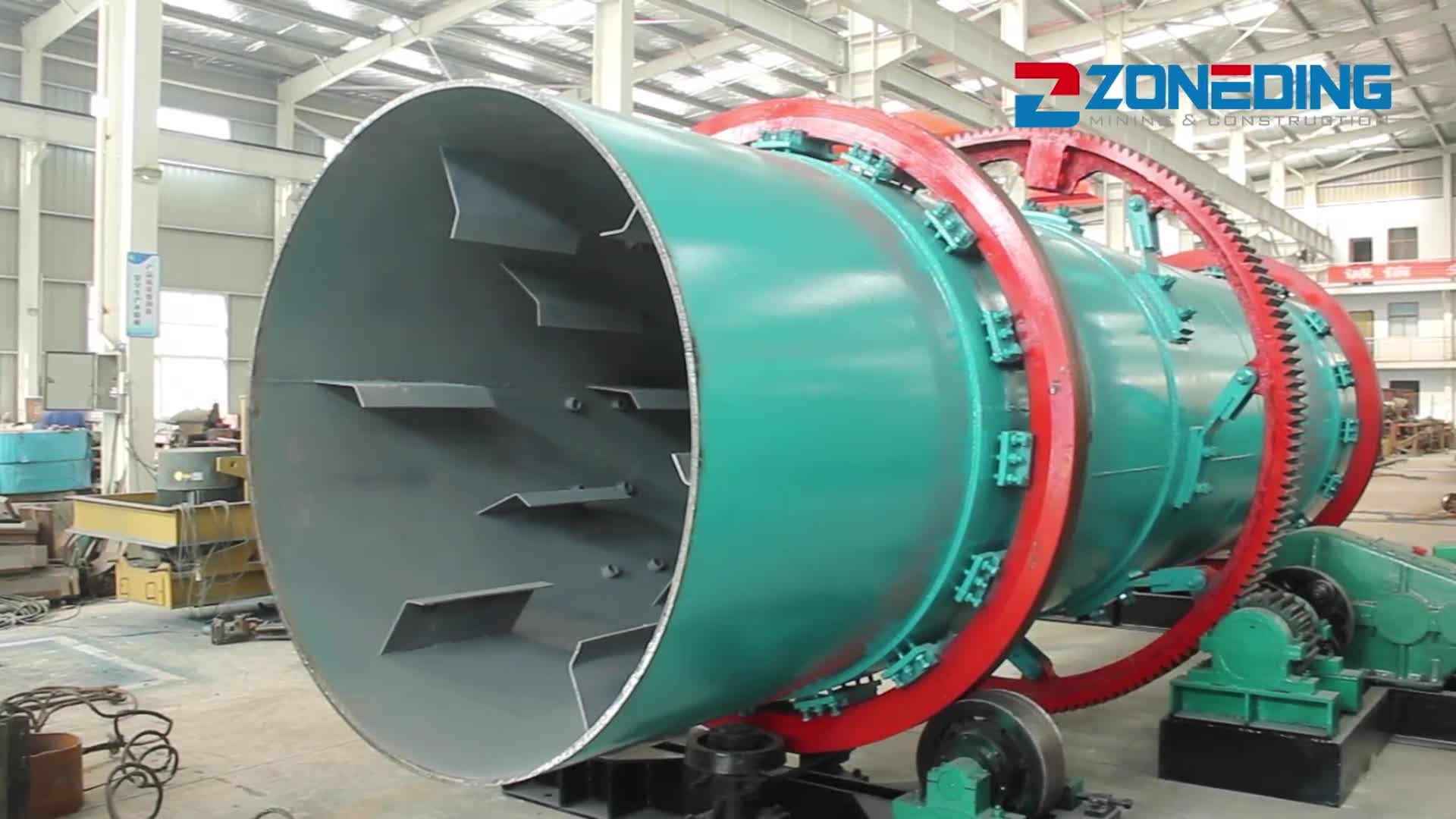 Professional stainless rotary dryer specification parts industrial drum dryer price