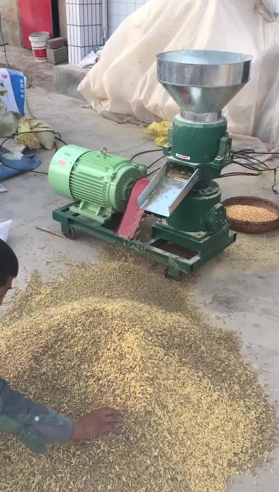 Capacity 150-300 kg/h rabbit cattle chicken small feed pellet mill machinery