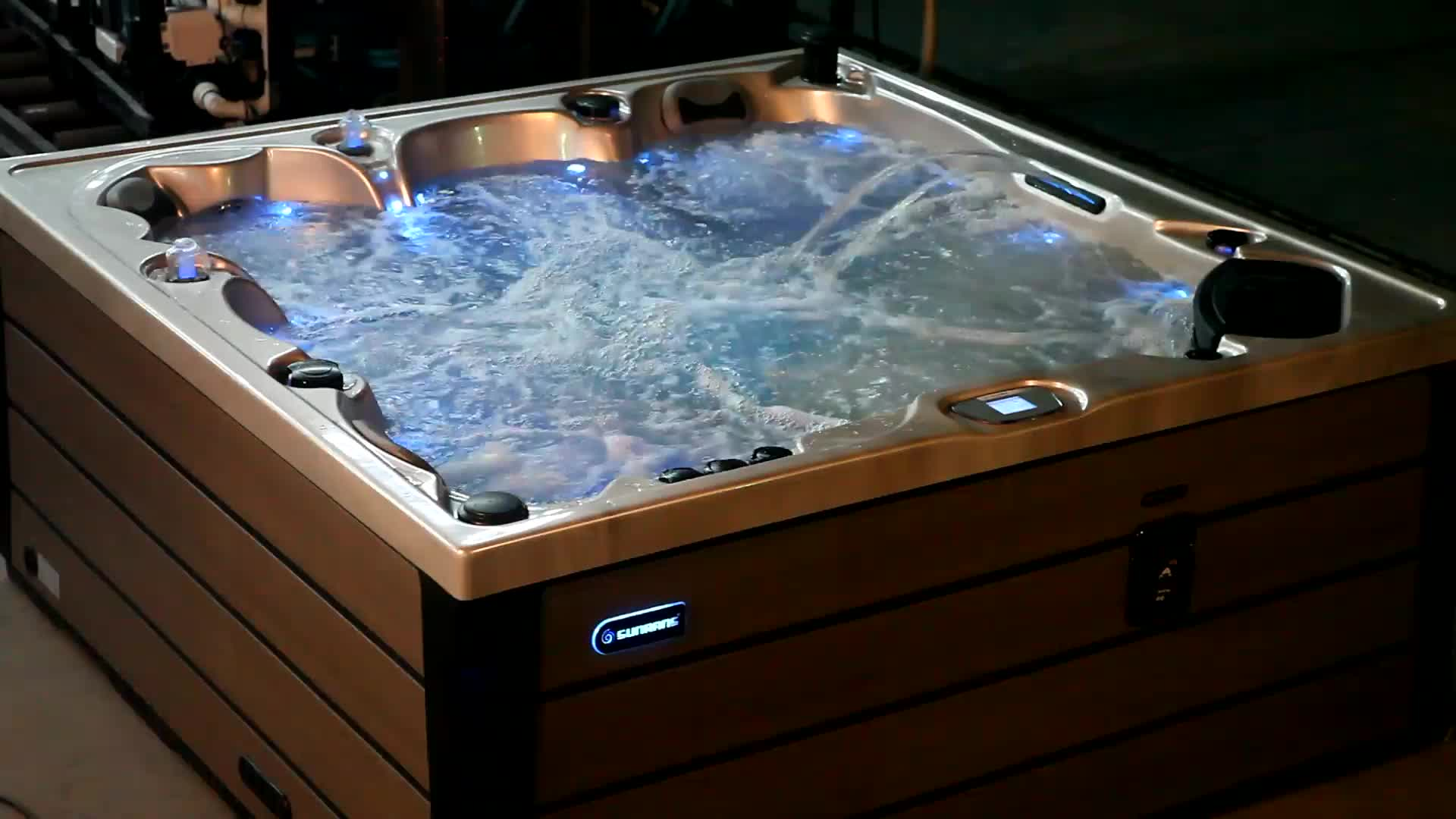 Sunrans New Acrylic spa balboa hệ thống hot bồn tắm xoáy nước ngoài trời massage spa