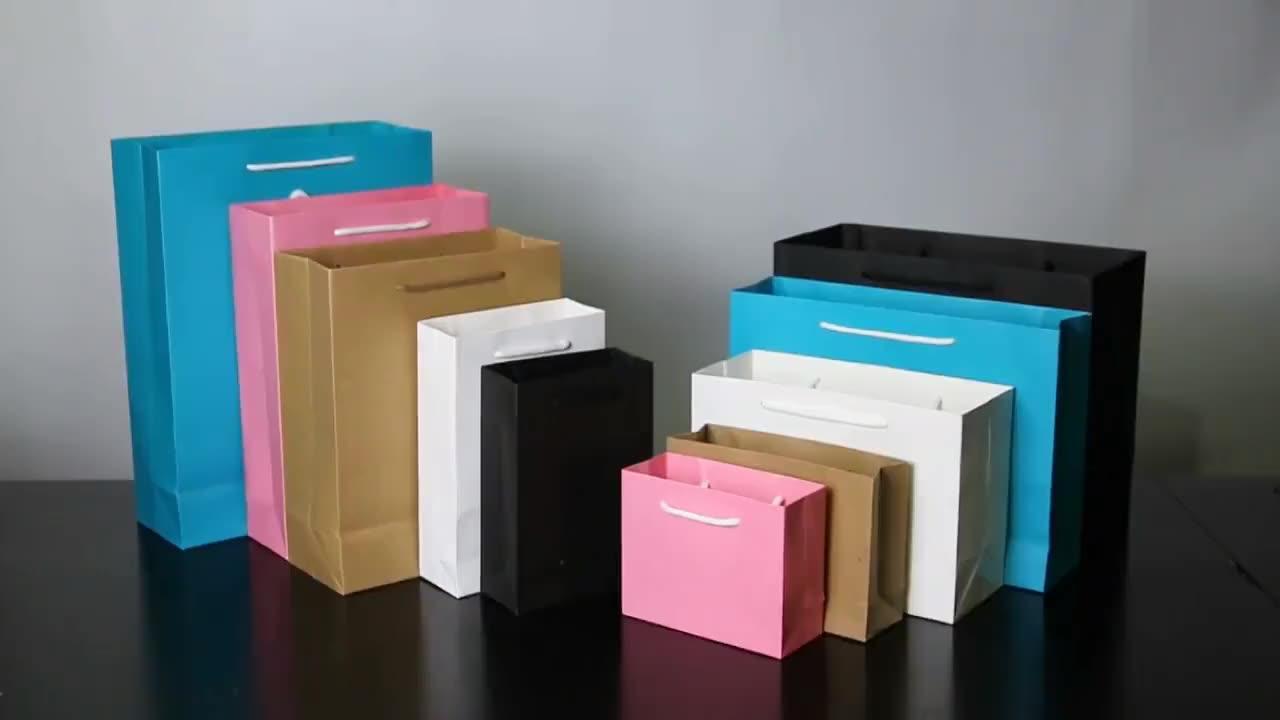 Multifunctionele Aanpassen Ambachtelijke Papieren Zak Winkelen Papier Met Handvat