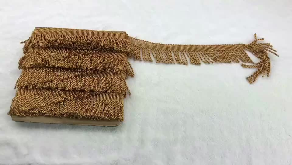 Best selling 2 inches gold bullion tassel bullion curtain fringe