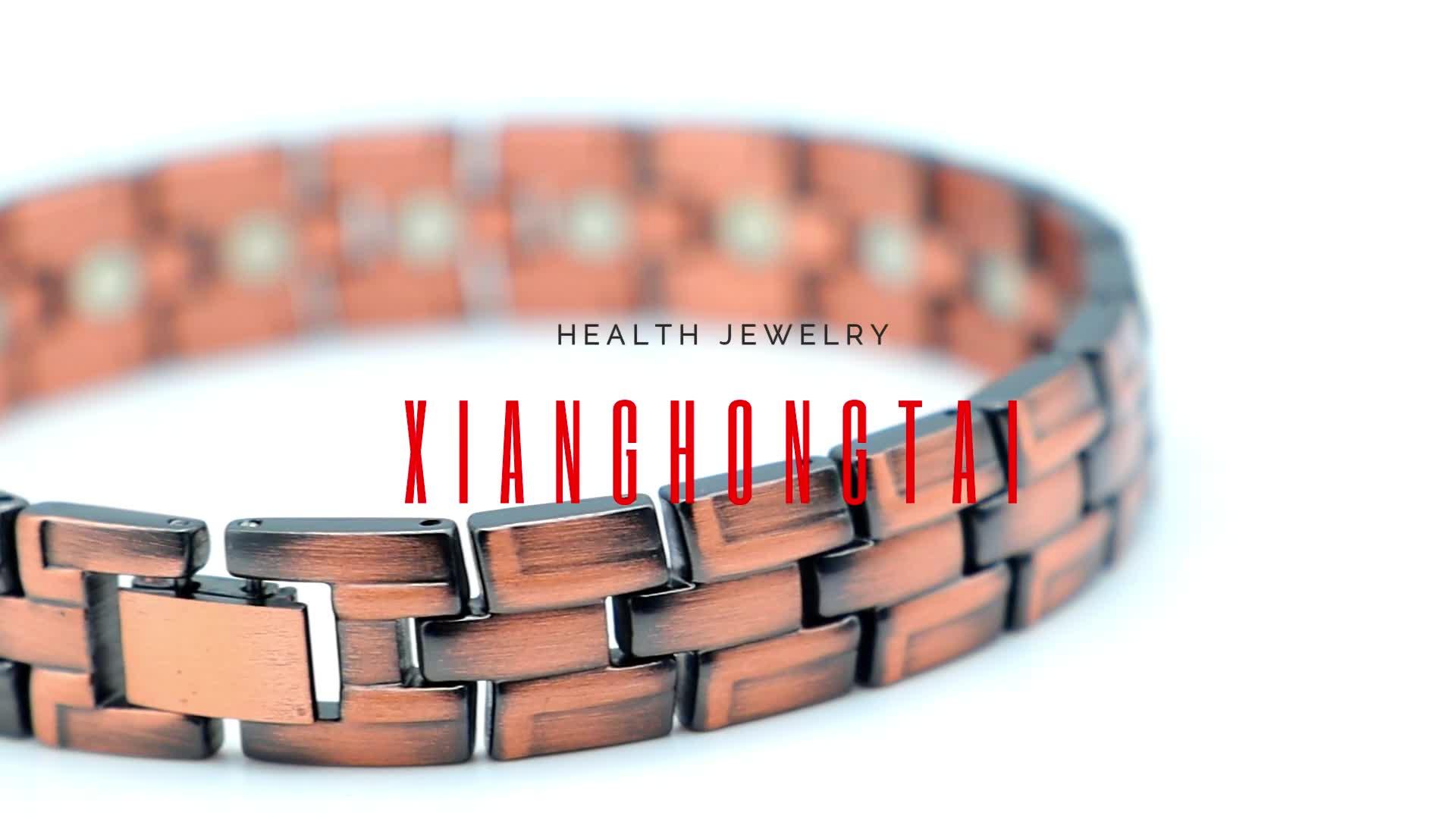 Hematite Bead Man Cuff Wire Blank Solid Men Jewelry Bracelet Copper