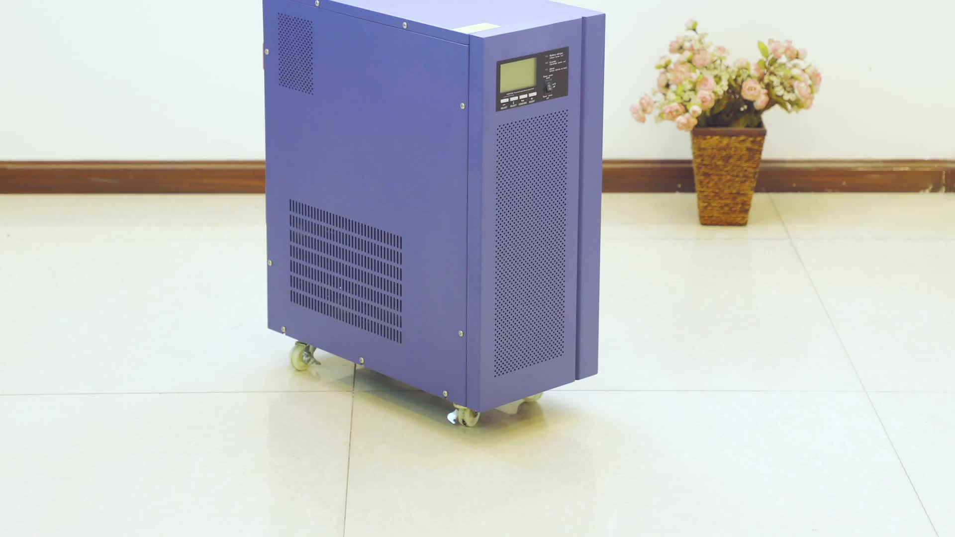 Low Frequency 8kw 10kw 12kw Large power SIngle Phase Pure Sine Wave  Power inverters 230v 72v with LCD Display inverter