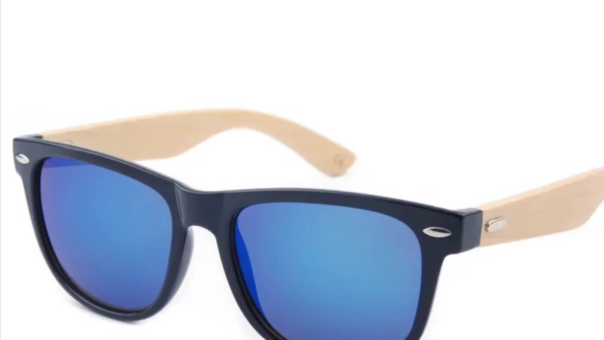 Billig groß individuelles logo polarisierte bambus holz sonnenbrille