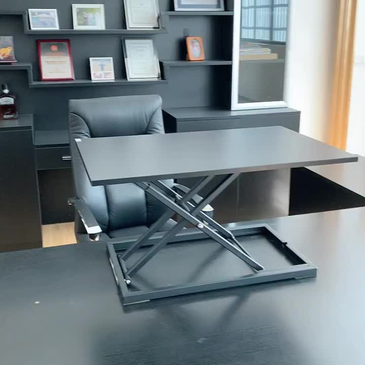 High Quality Metal Height Adjustable Sit-Stand Workstation Office Desk