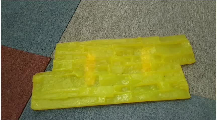 คอนกรีต curb design ซิลิโคนแสตมป์อิฐ roller แม่พิมพ์สำหรับประทับตรา