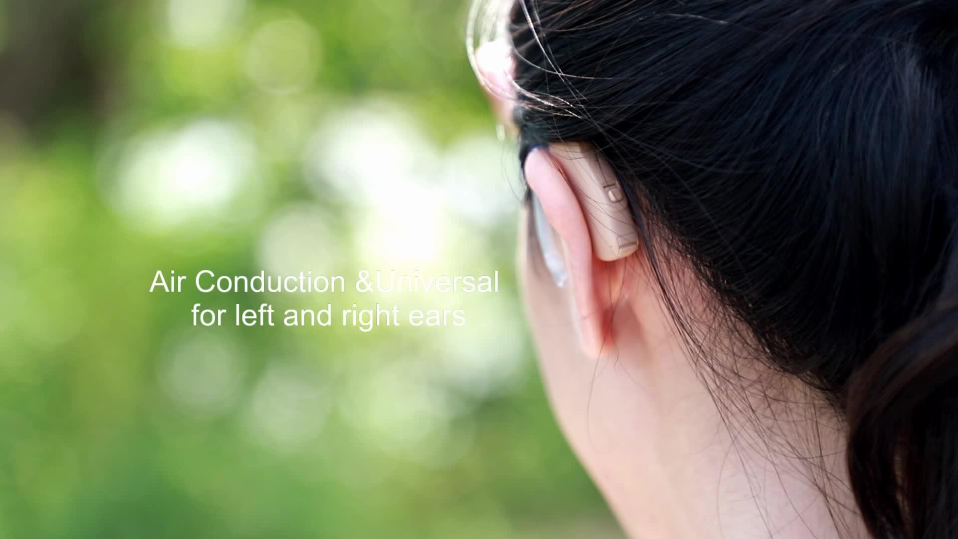 Telecoil TV derin kulak bakımı ses amplifikatörü dijital işitme cihazı