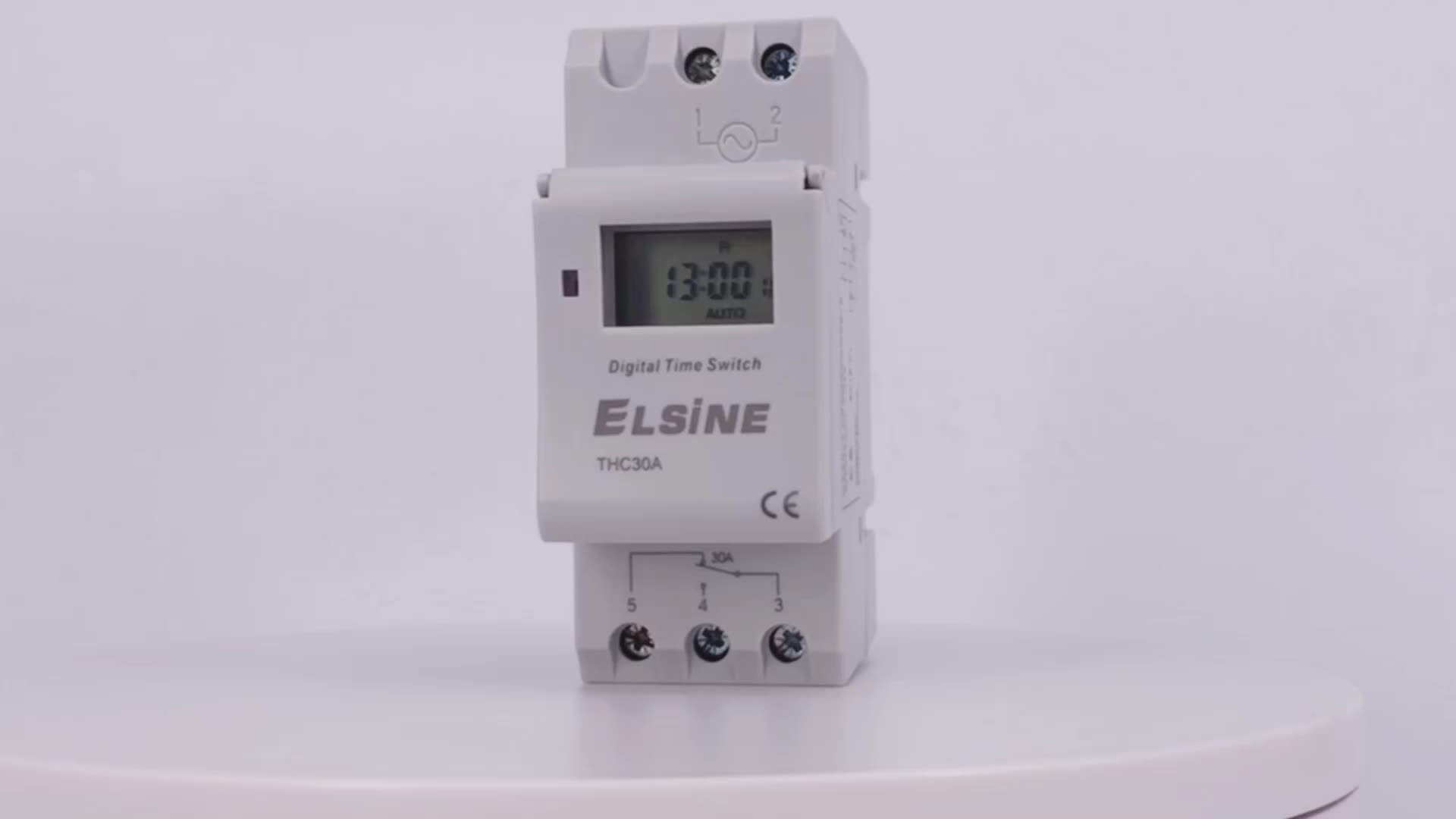 Wenzhou manual timer digital clock operated switch 220v Din rail mounting atoumic time switch