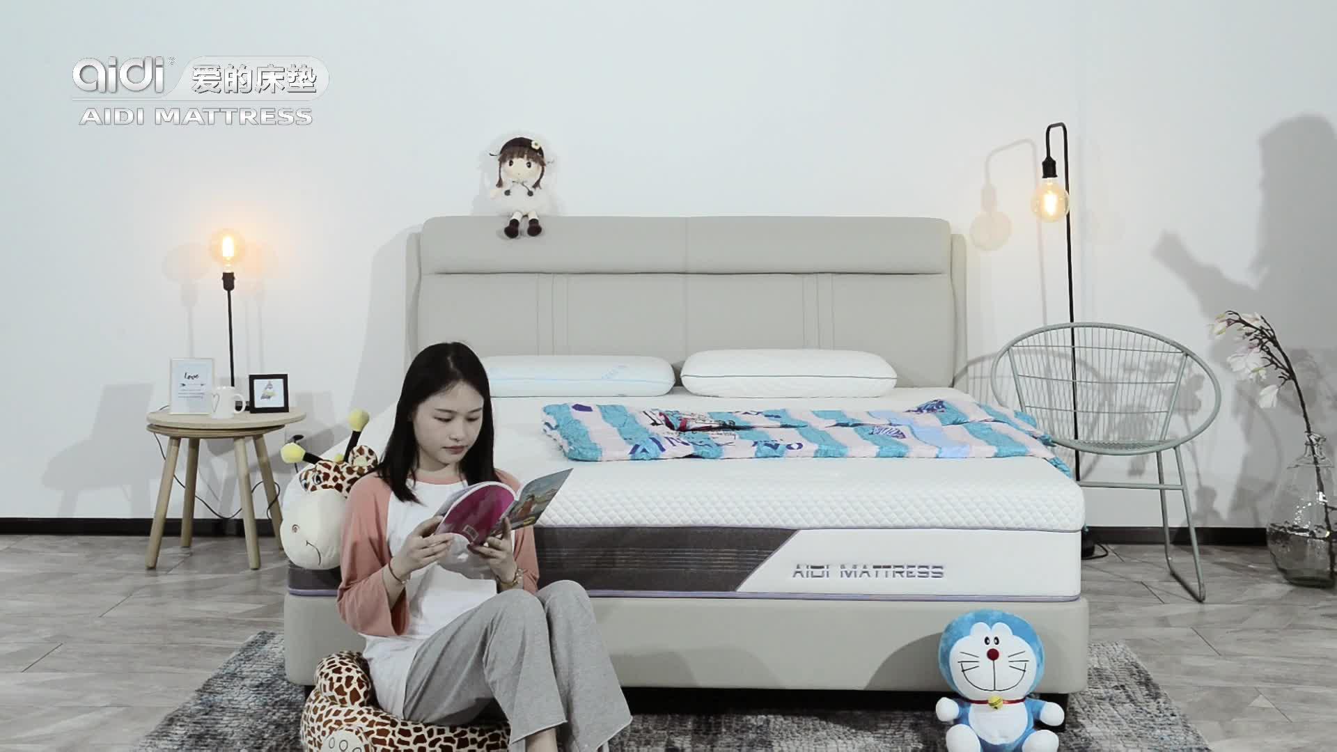 愛ディニット生地卸売 Sleepwell 50 密度泡クイーンサイズのマットレスと枕トップ大人のための夢マットレス価格
