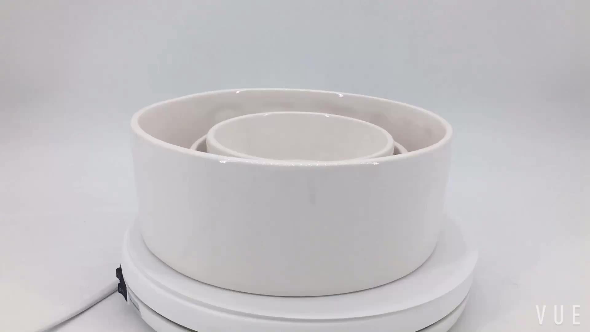 Прямая продажа с фабрики OEM Керамические салат белая керамическая миска для собаки корм для животных пользовательские подачи воды миска для собак и кошек