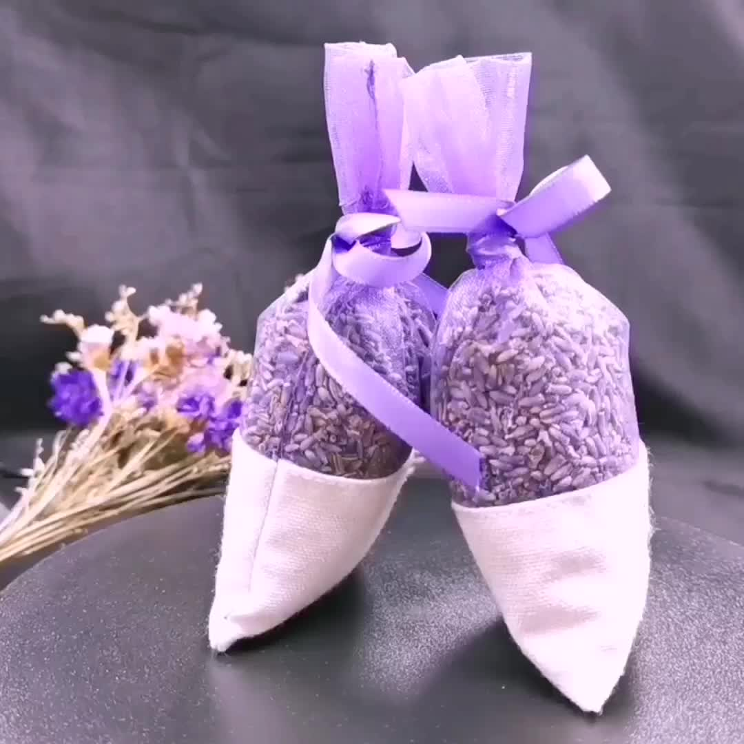 Hot sale Pure natural healthy long lasting organza embroidery aromatic lavender sachet bag with dried flower