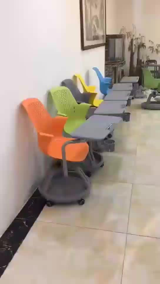 New design classroom chairs with wheels node tripod base