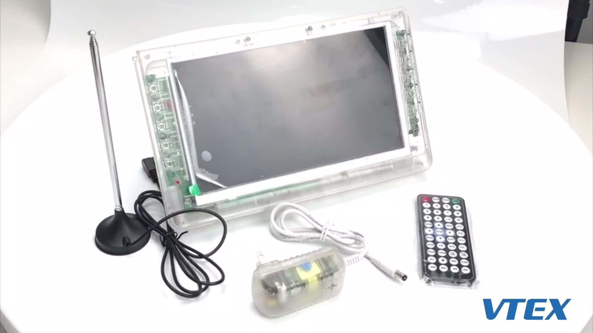 NEW portable HD digital led TV mini flat screen receptor digital prison TV