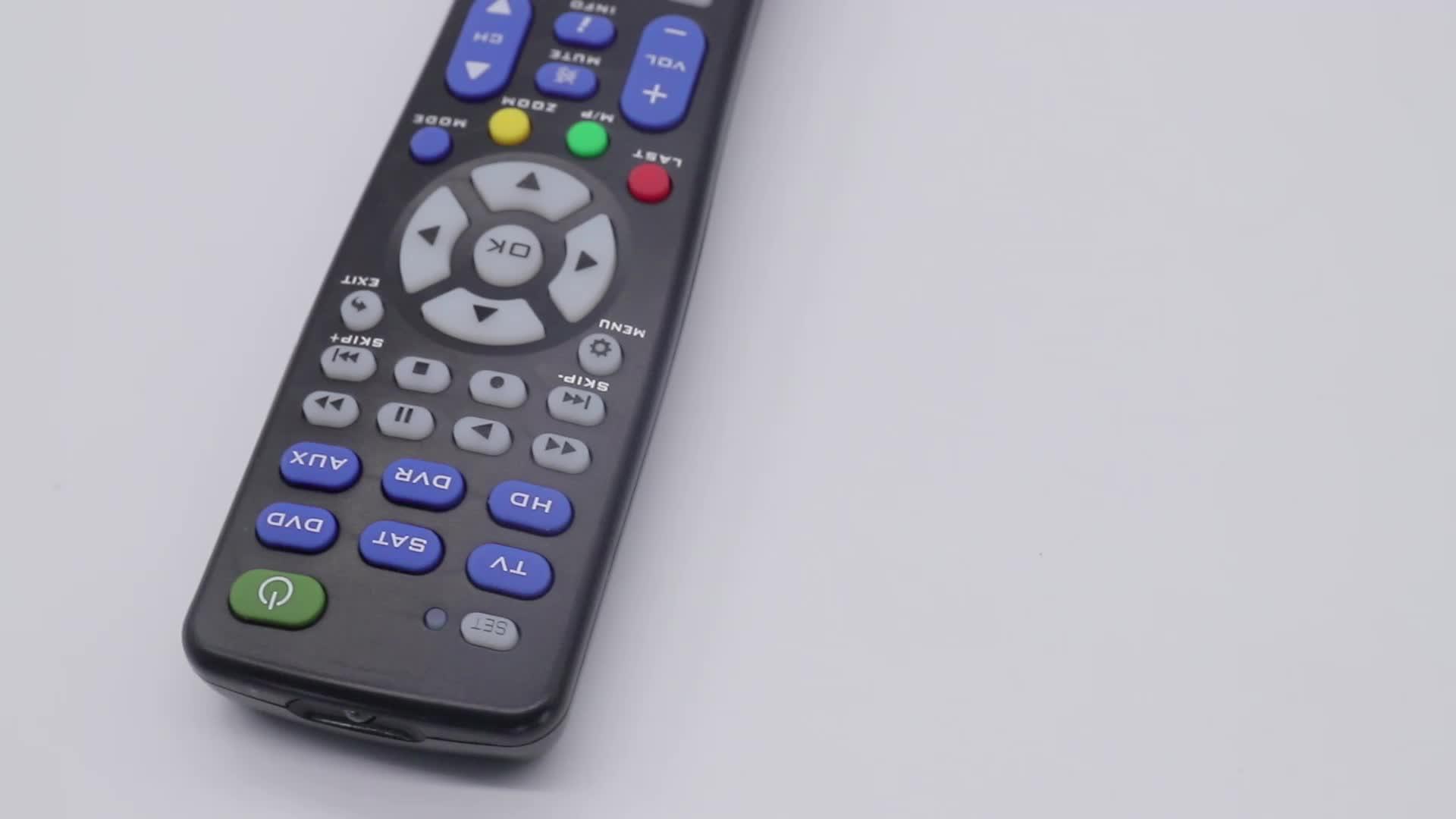 I-REMOTE SMR936 6 in 1 Functionele Smart Afstandsbediening met Leren Ergonomie Controles TV Remote