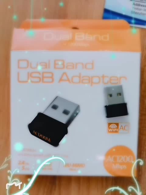 1200M wireless network card usb wifi adapter for office computer/laptop/PC tablet