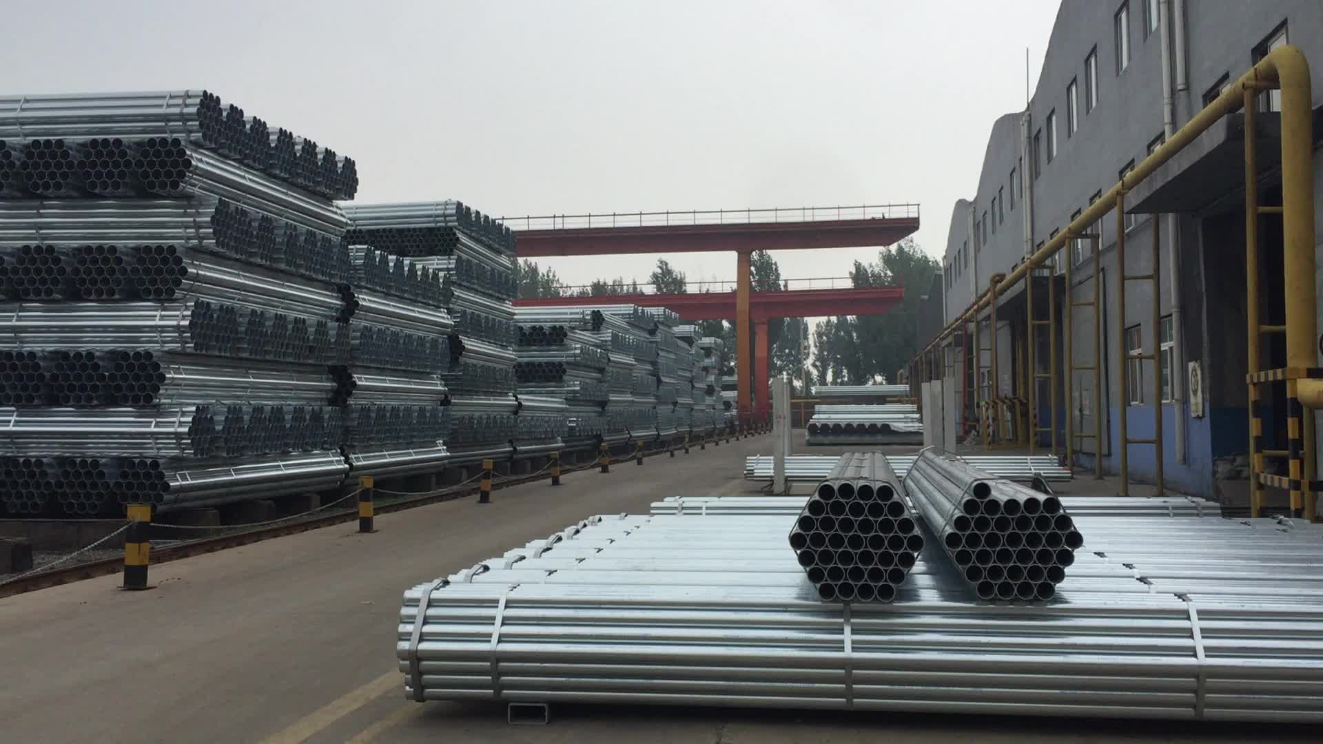 Hot rolled round galvanized seamless steel pipe price per meter