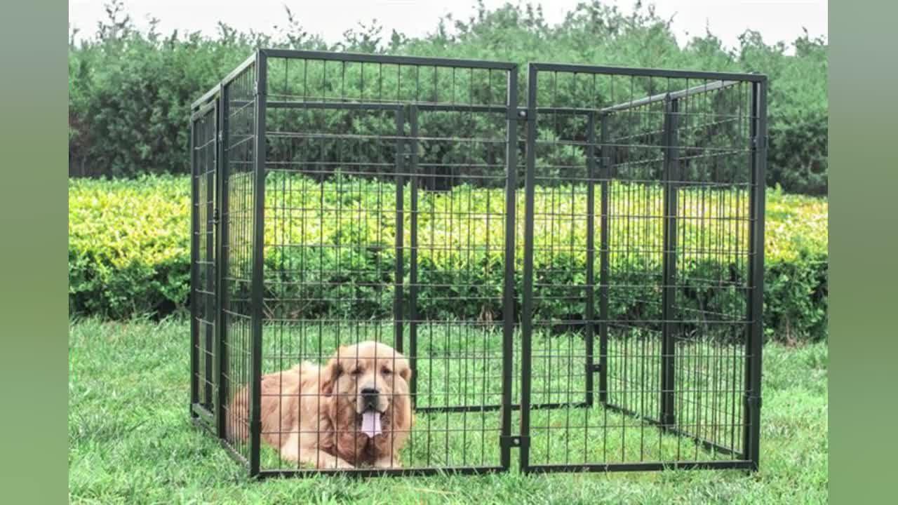 Metal Large Outdoor Welded Wire Fence Panels Dog Cage Dog House ...