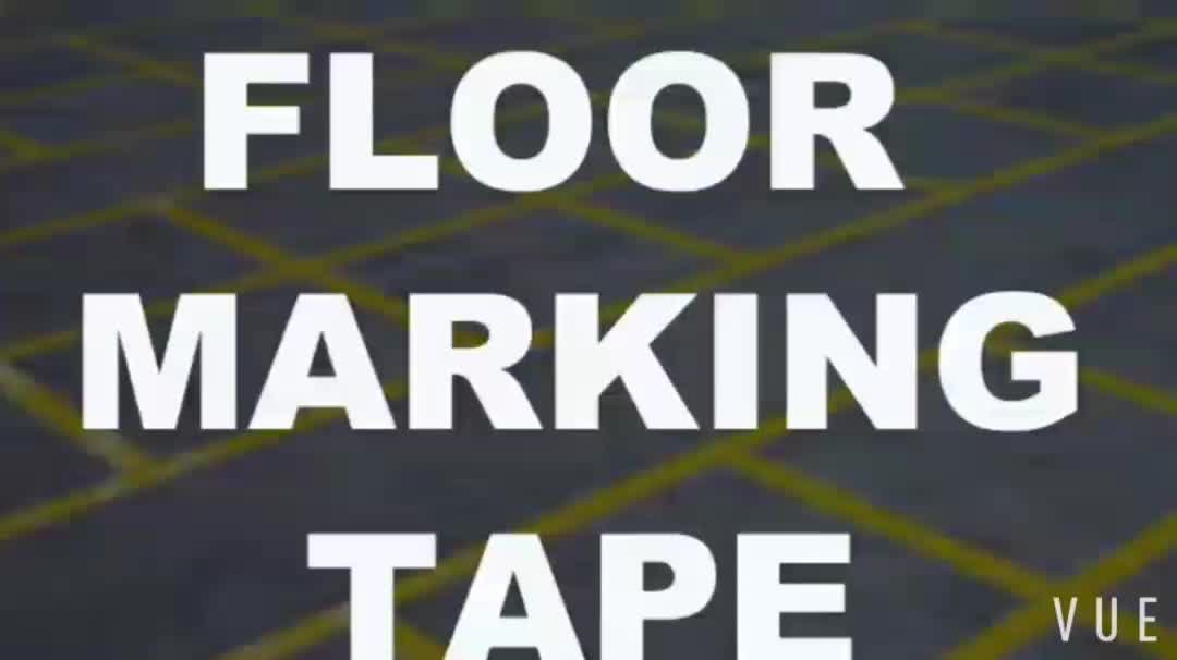 plastic core floor tape Floor Safety Striped Marking Tape