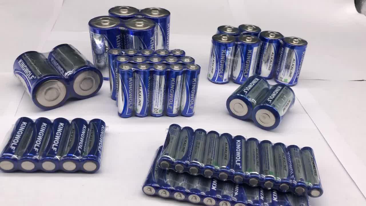 Venta al por mayor alcalina de la batería de 1,5 V LR6 LR03 LR14 LR20 baterías