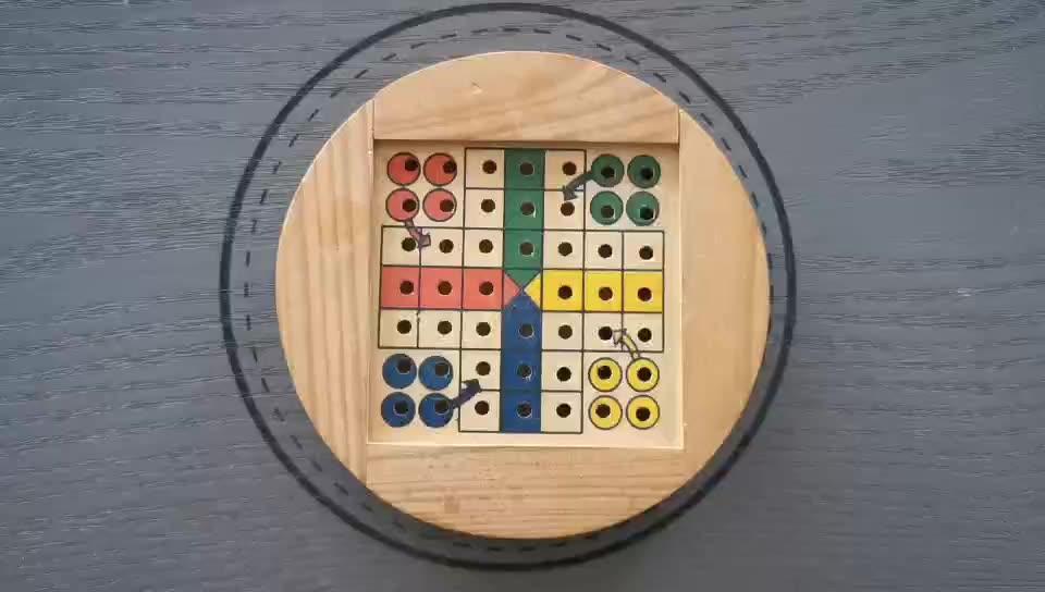 Mini Travel Coperta in legno gioco Ludo gioco da tavolo per il regalo di promozione Cinese volare chess set