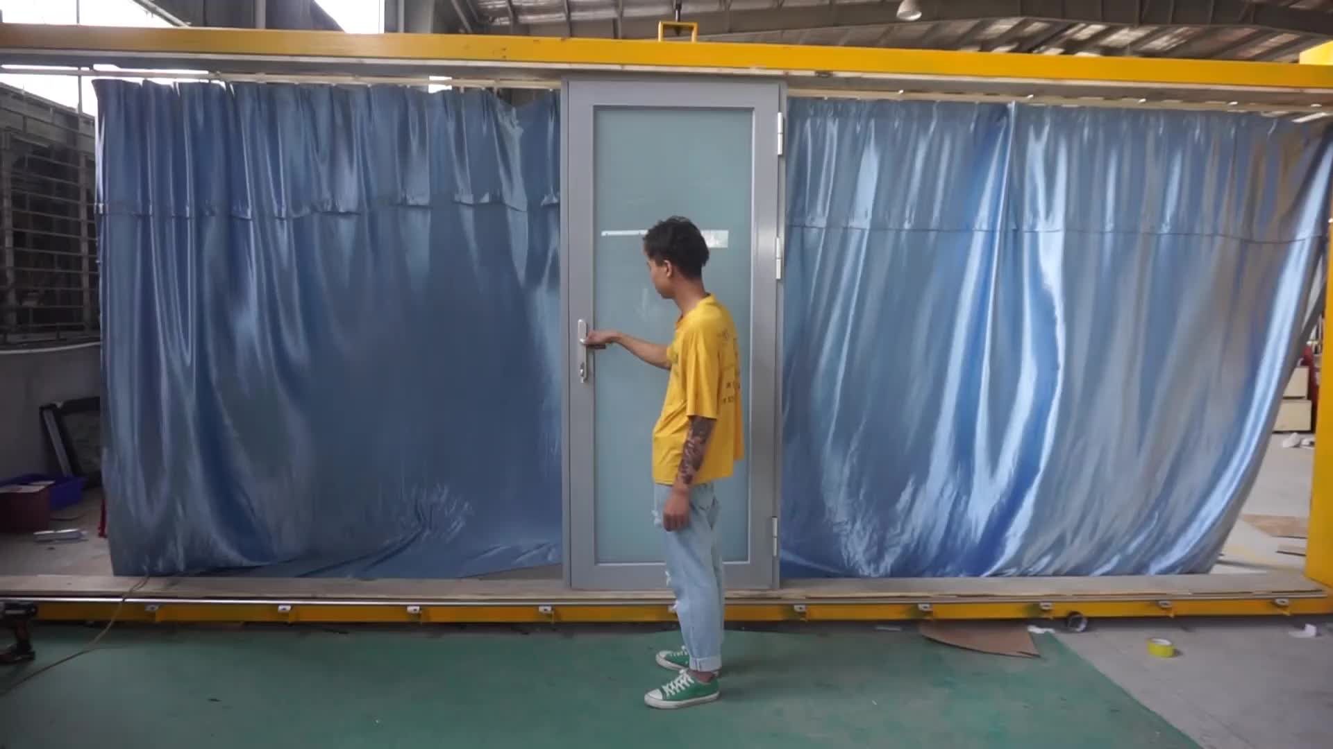 Aluminum Double Glaze Door With Window Design