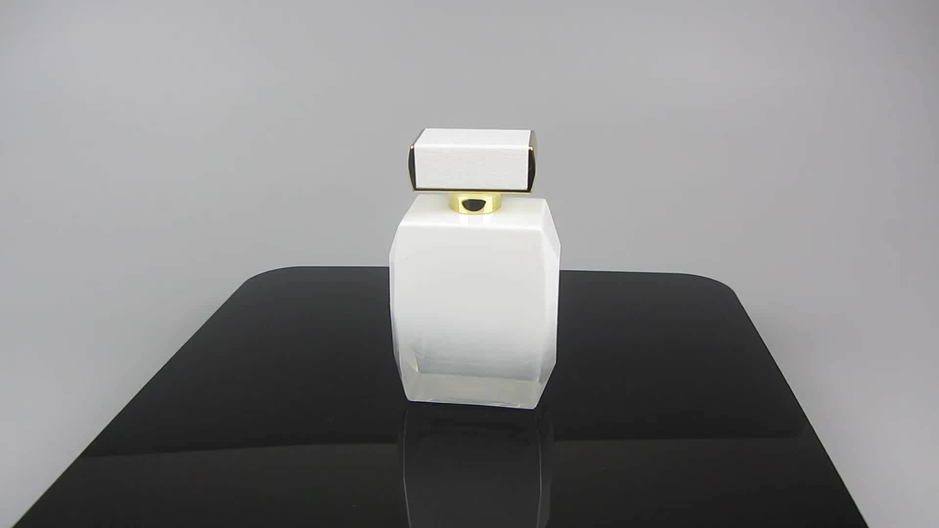 Luxury Antique Heavy Glass Perfume Bottle 100ml with Crimp Spray