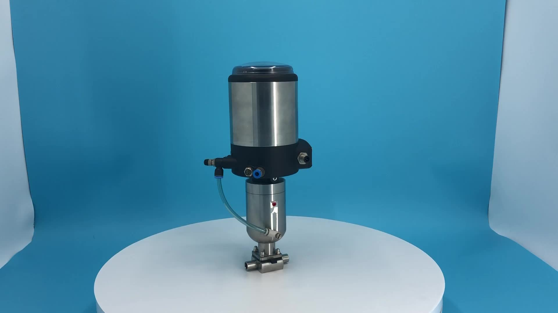 SS316L stainless steel pneumatic diaphragm valve with positioner for biological systems