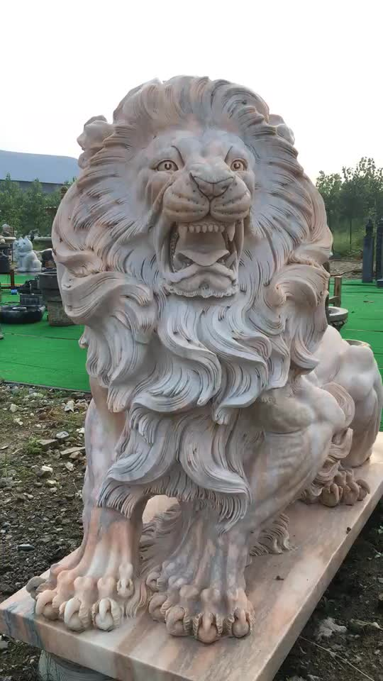 Hot Sale Stone Sculpture Products Marble Sleeping Lion Statue