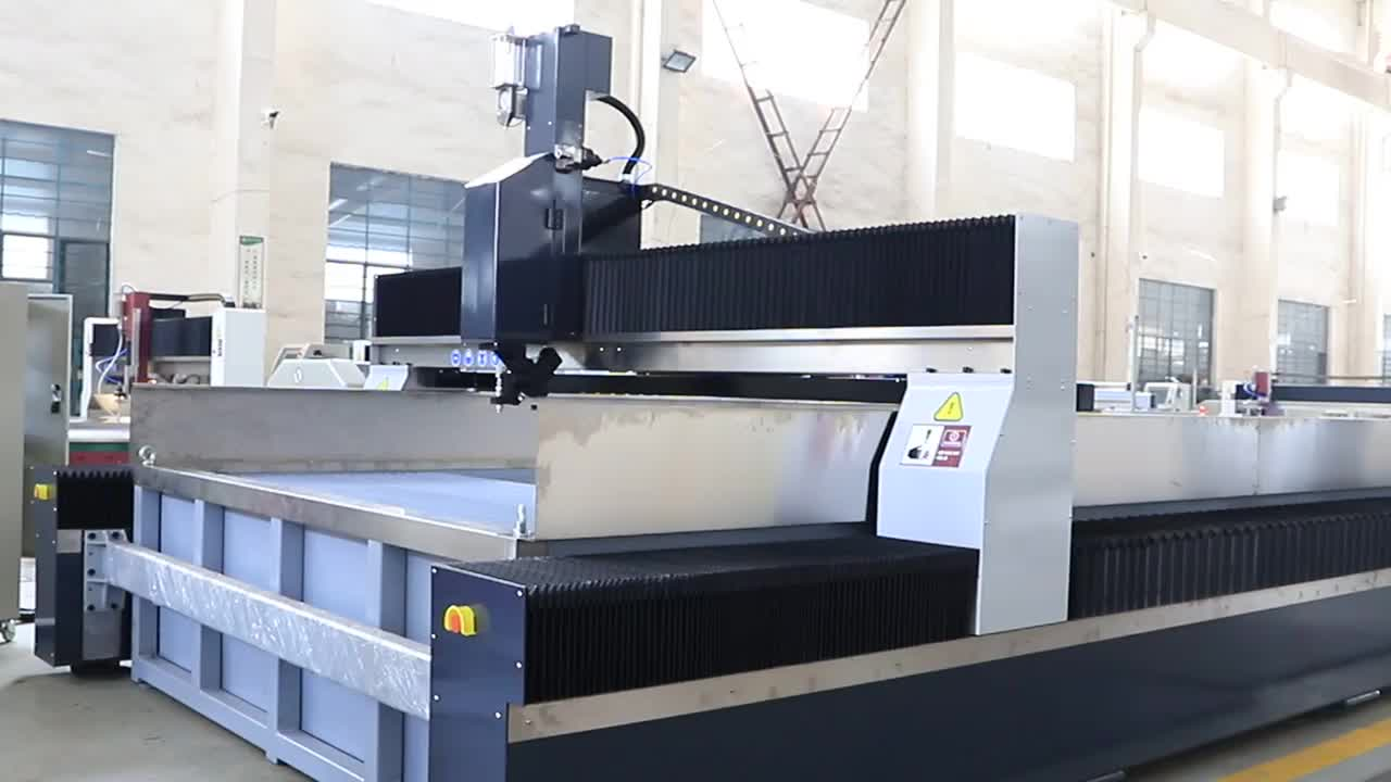 CNC Water jet cutting machine 5 axis, 45 degrees,waterjet cutting machine