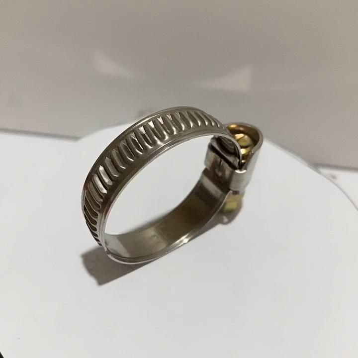 W2 12mm बैंड जर्मन प्रकार नली clamps