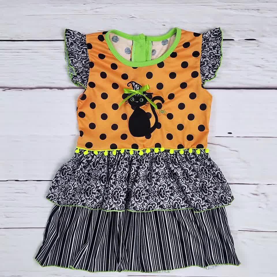 Wholesale baby girl dress Halloween girls boutique dress