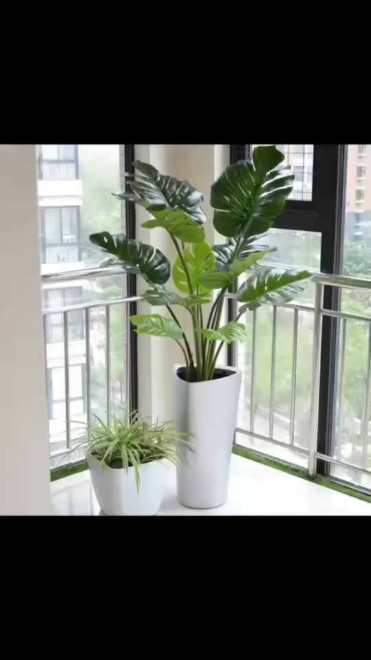 small 150cm height nordic artificial turtle leaves tree potted