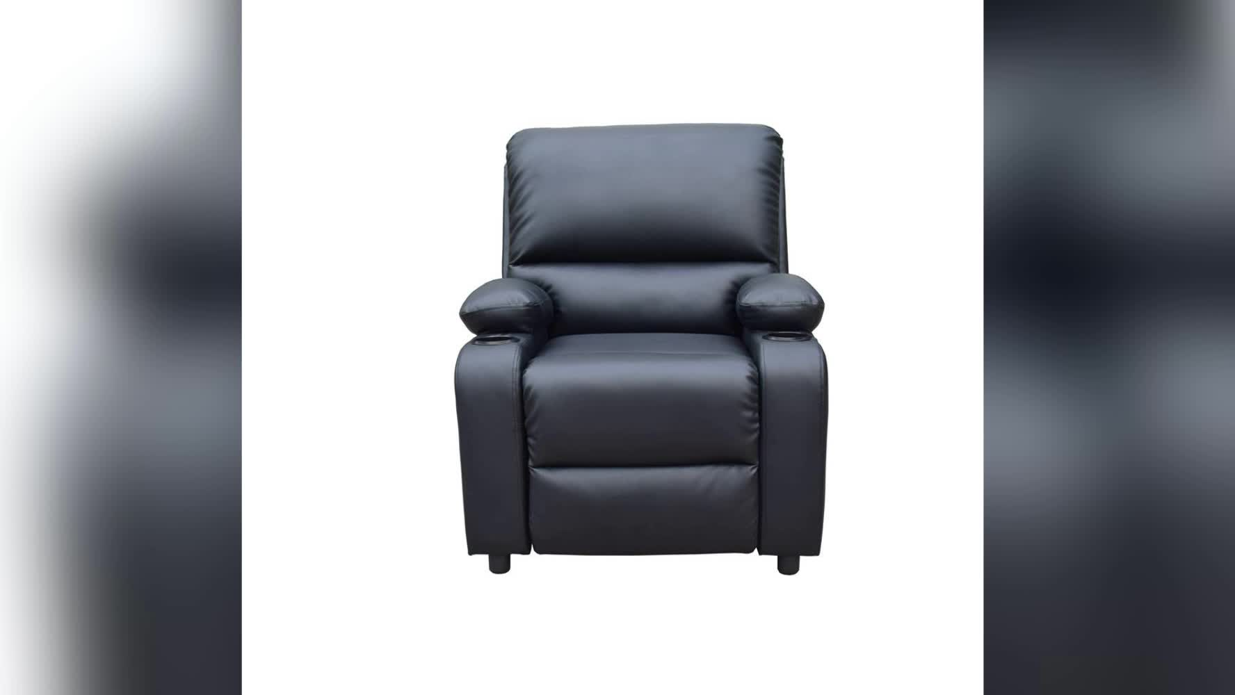 Lightweight recliner, black leather recliner sofa