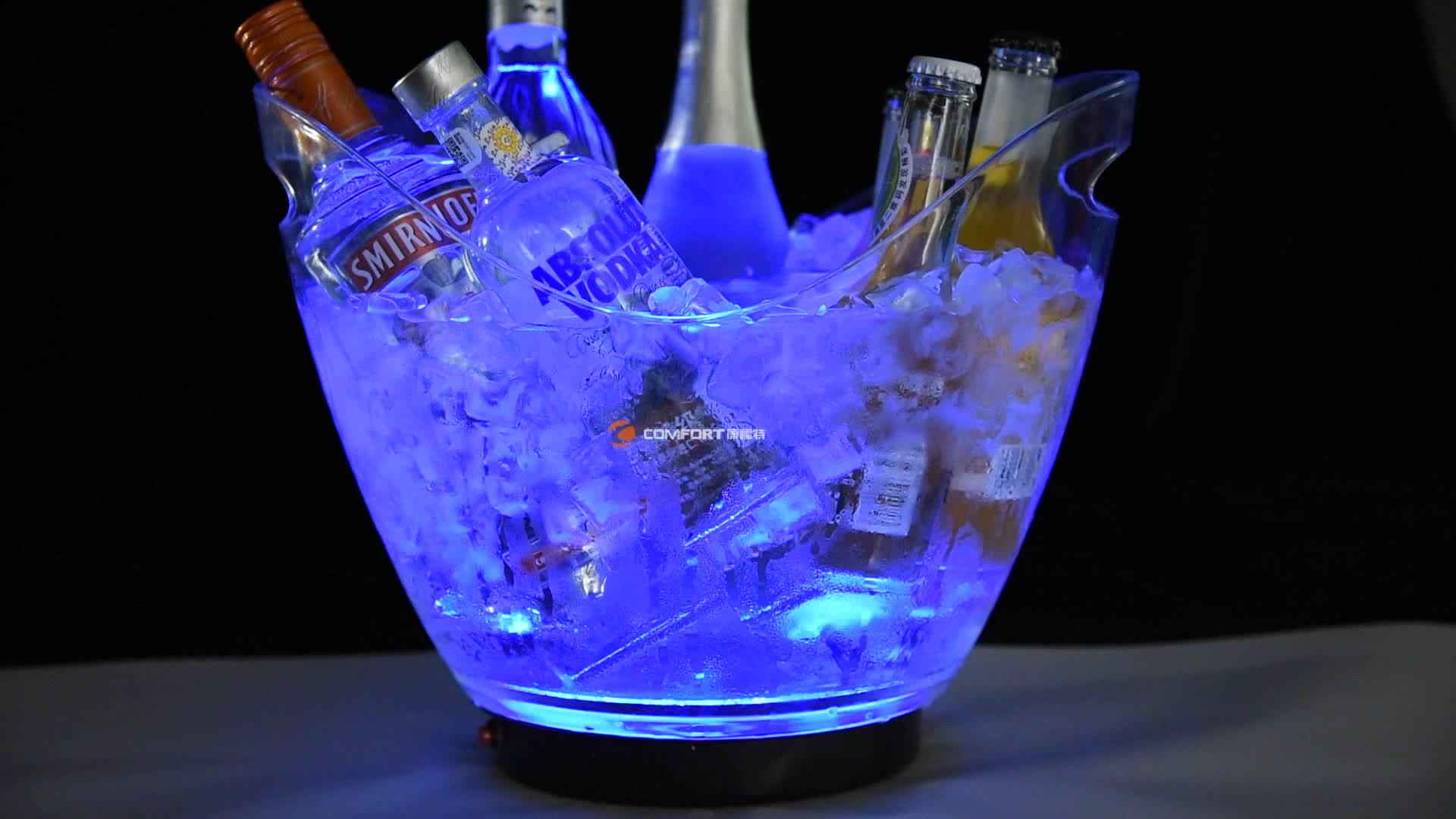 High-grade beer wine champagne acrylic plastic ice bucket