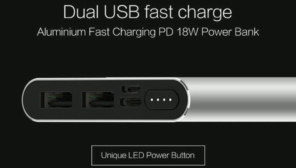 Best selling products PD power bank,quick charge power bank PD 2.0/3.0 QC2.0/3.0 18W power bank 10000mah