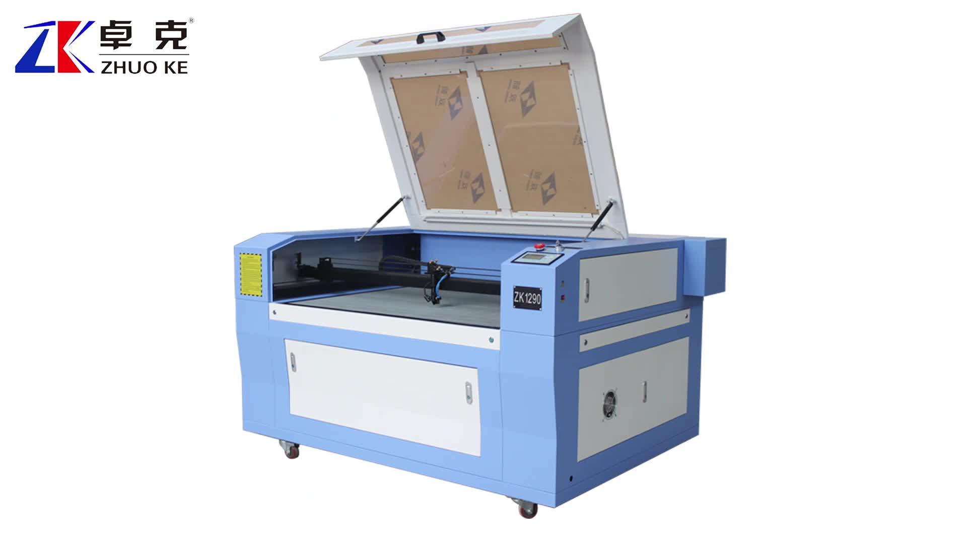 Goedkope Prijs Hoge Kwaliteit 80 w/100 w CO2 Laser Snijmachine 1200*900mm ZK-1290