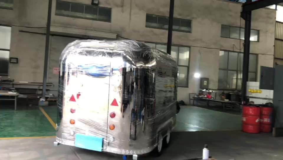 कम कीमत बिक्री के लिए कॉफी तेजी से Airstream खाद्य ट्रकों मोबाइल खाद्य ट्रेलर