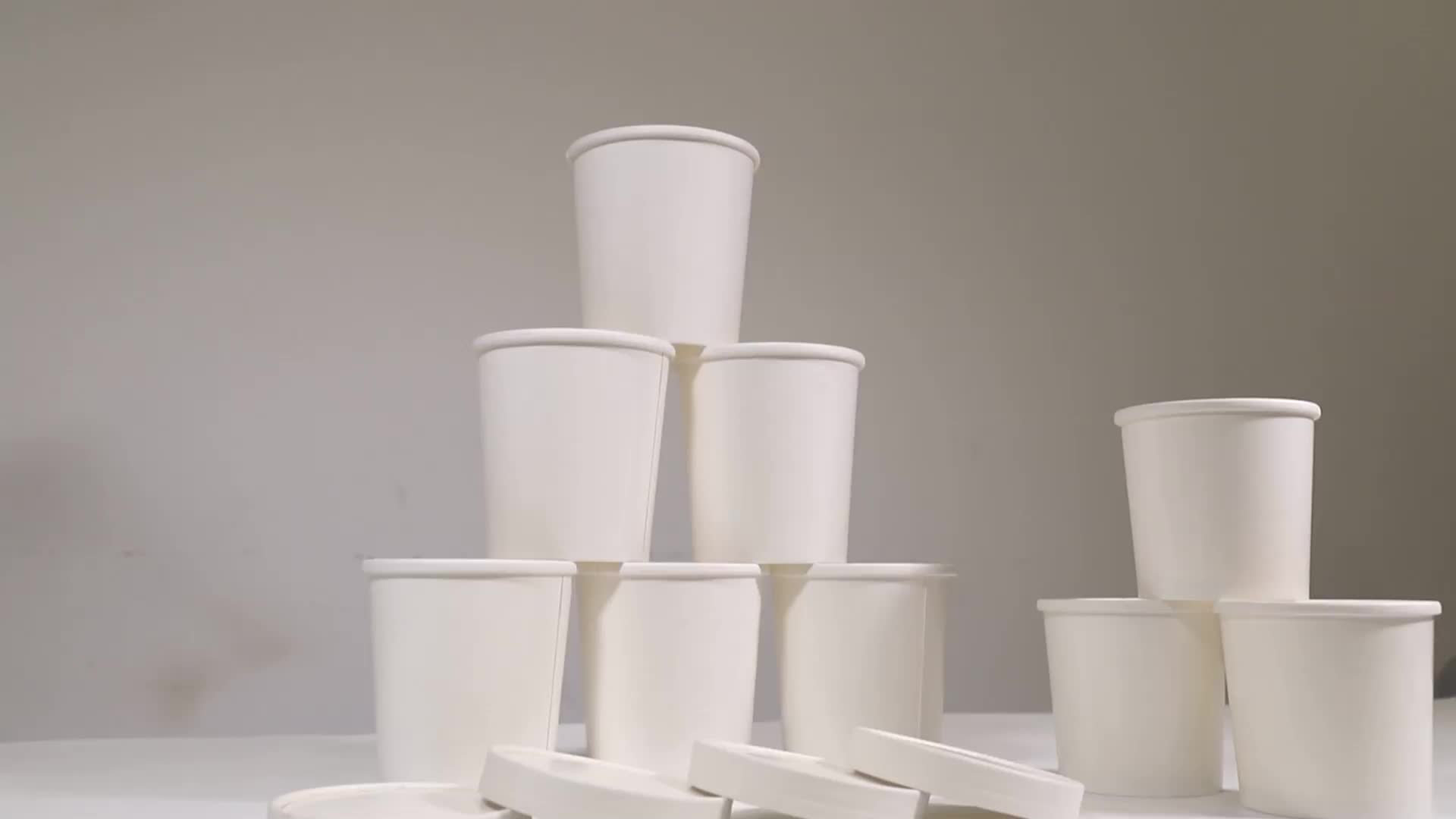 Manufacturer Customized Logo Soup Paper Cup Edible Cup Soup Containers