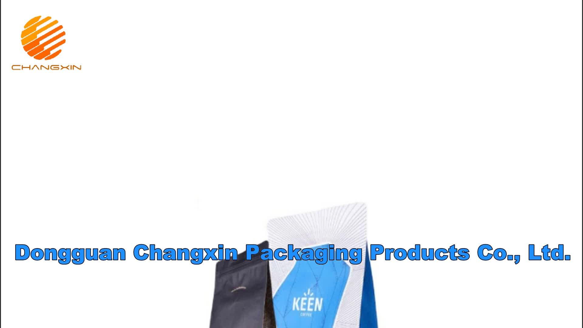 Aluminium Foil Datar Bawah Tas Ziplock Kantong untuk Makanan Kering/Datar Blok Gusset Bawah Biji Kopi Kemasan Tas