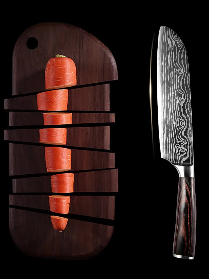 Best selling competitive kitchen fruit knives damascus chefs knife