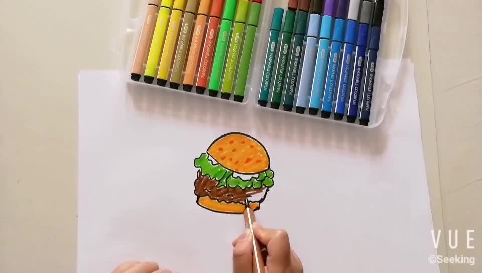 36 colors washable rainbow color art pen
