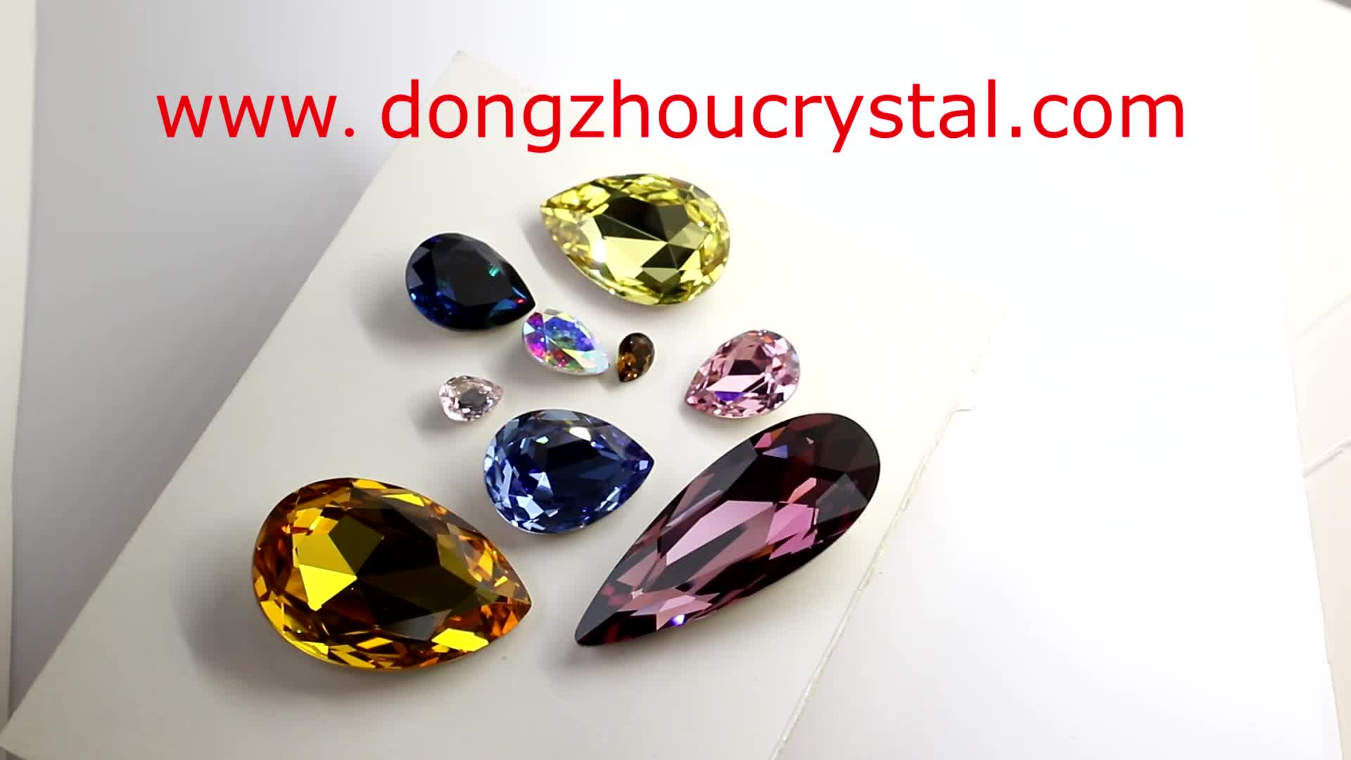 Dongzhou Crystal 3003 Hot Selling Waterdrop Pink Rose Crystal Fancy Stone For Jewelry FREE SAMPLE