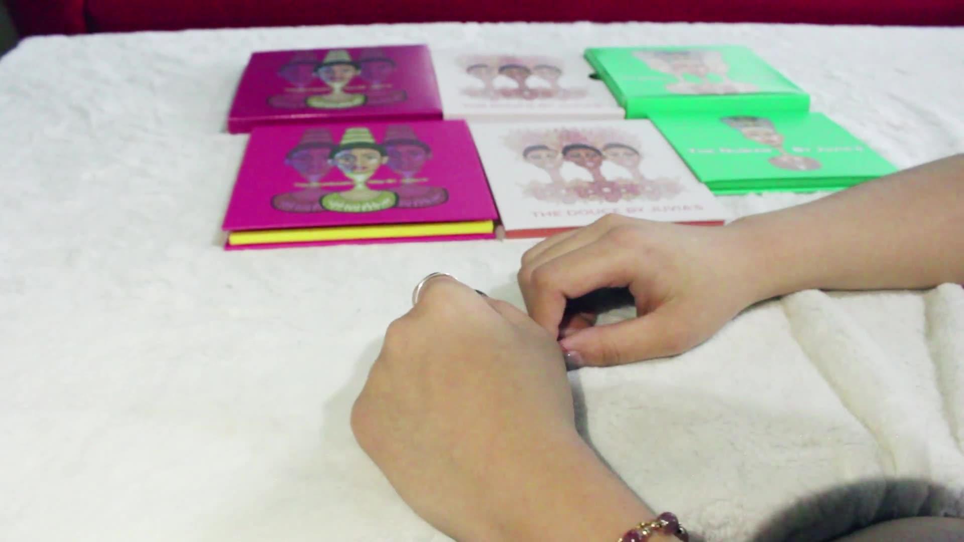 개인 라벨 메이크업 글리터 매트 색 26mm 팬 16 색 홀로그램 아이 섀도우 팔레트