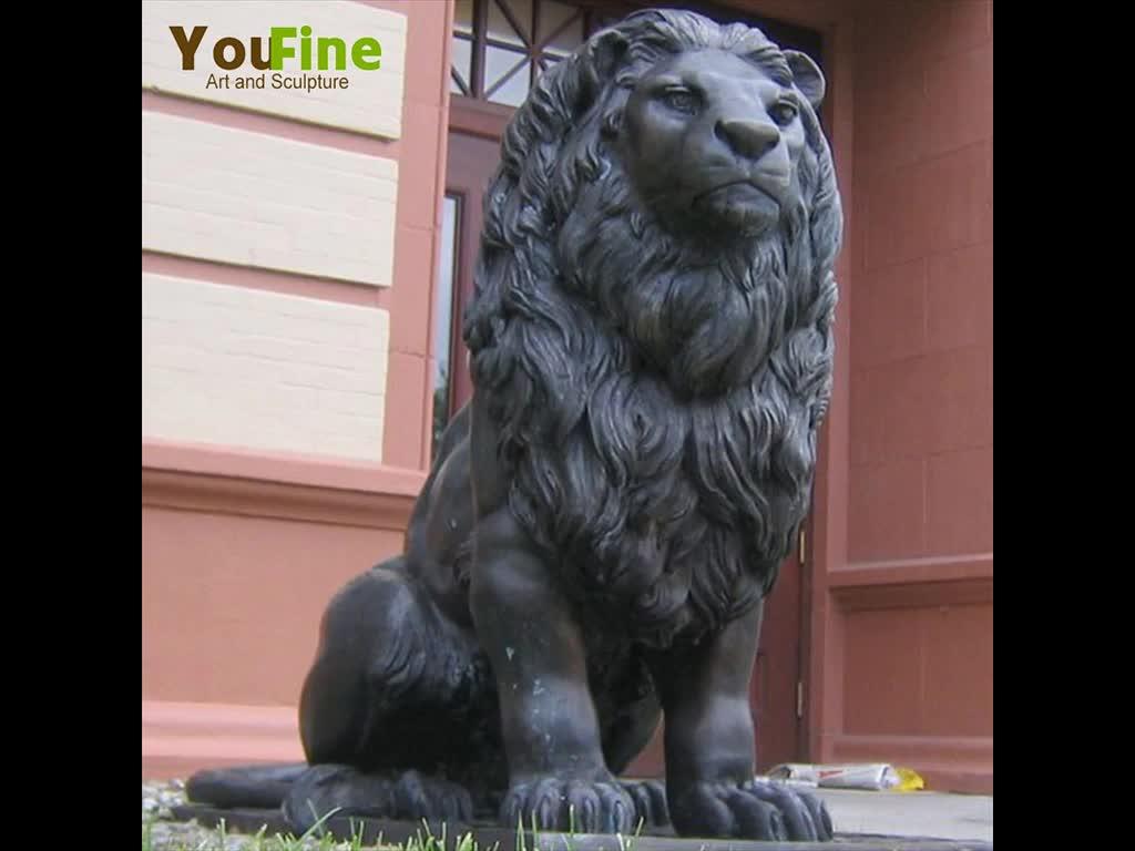 販売のための庭の屋外の鋳造の青銅のライオンの像のための大きい青銅の大きいライオン