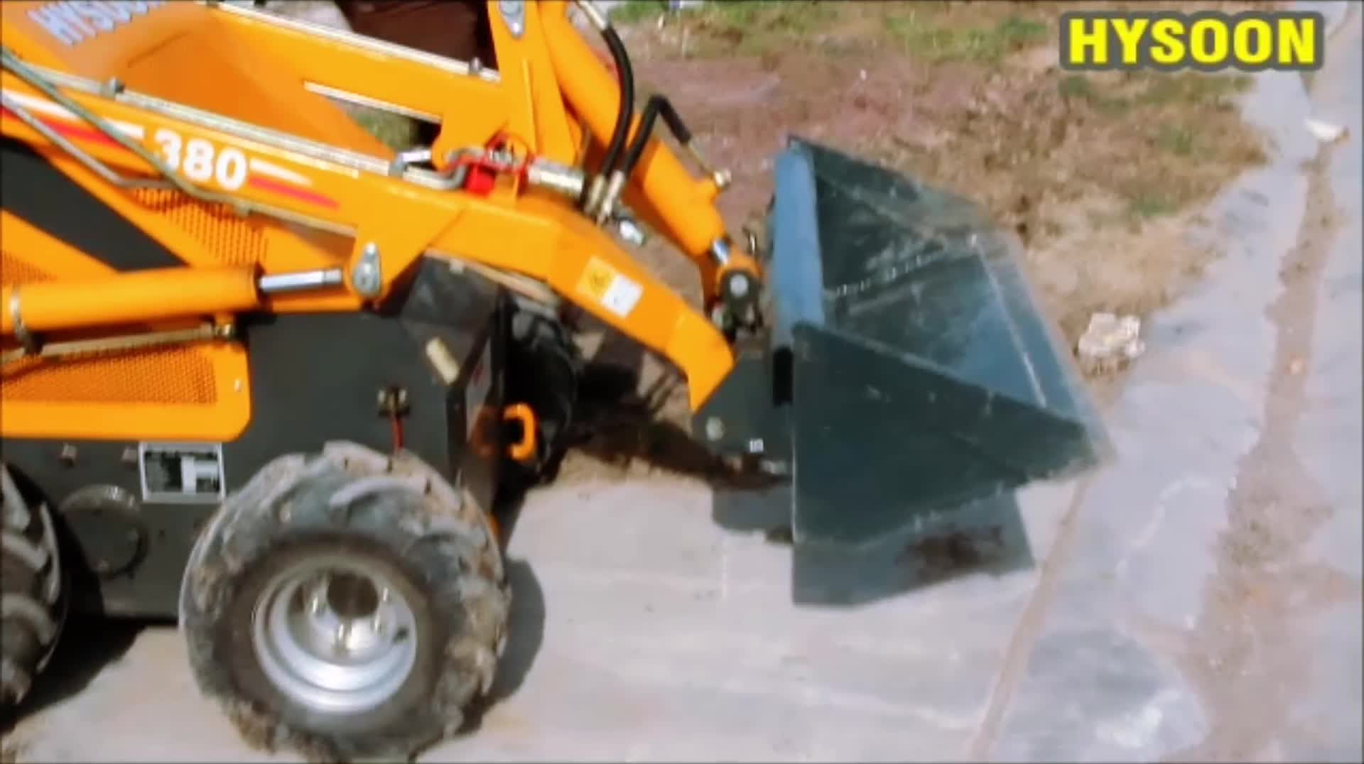 23HP mini backhole loader