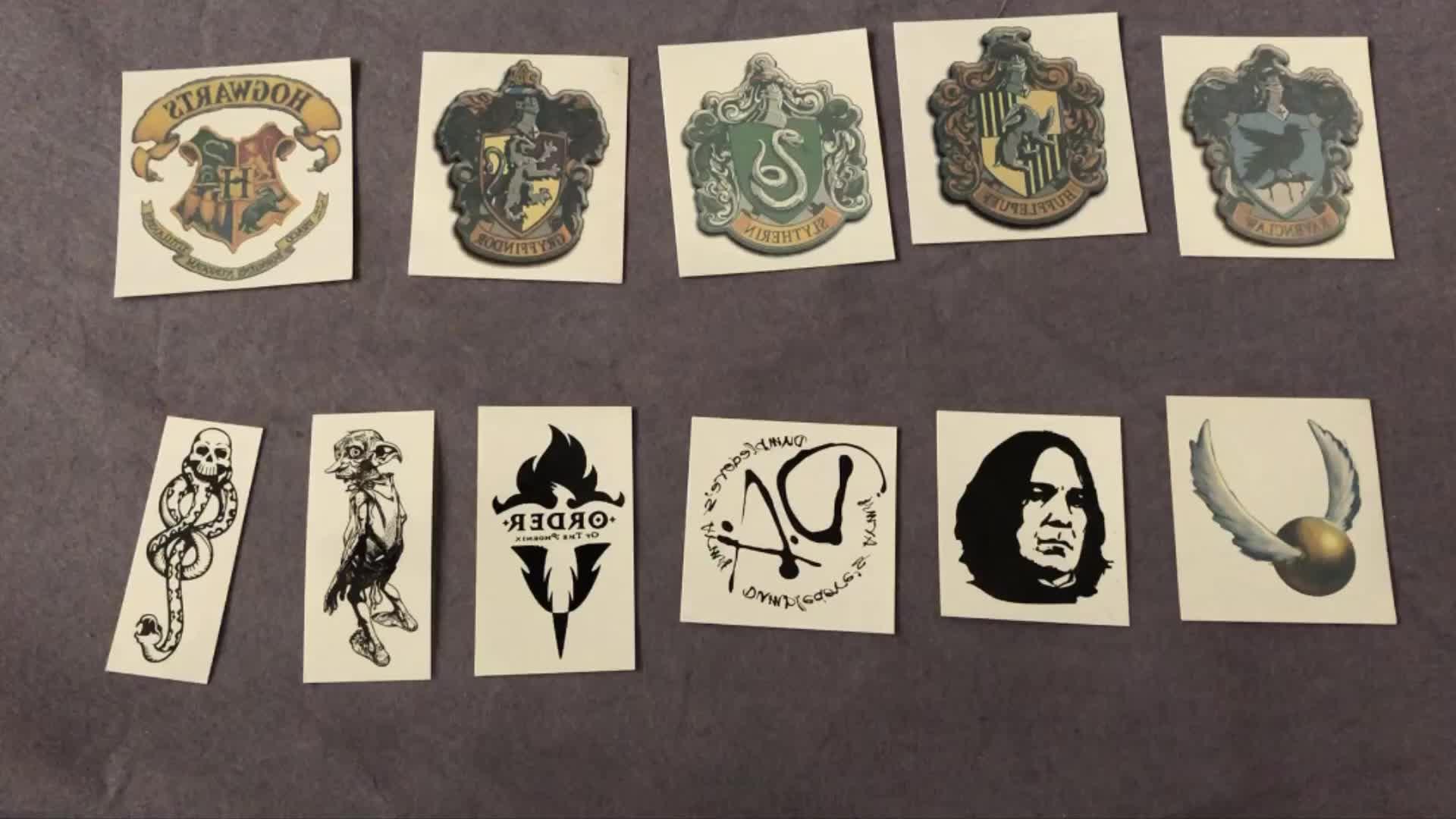 Film Harry Potter Temporaire Lavage Tatouage Mangemort Poudlard Gryffondor autocollants De Tatouage