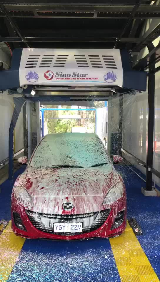 Fully automatic touchless car wash machine /touch free car washing machinery  Successfully installed in Australia