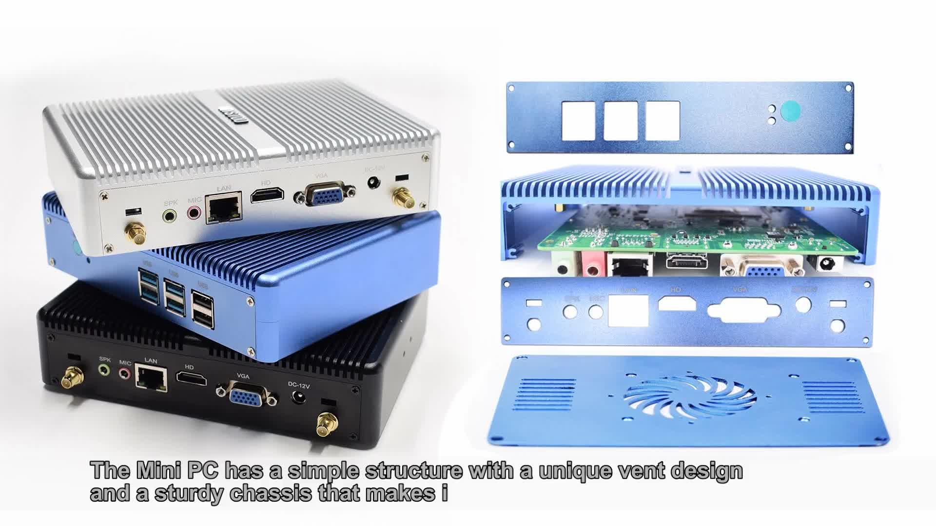 最高価格 thinclient ミニ pc サポートカスタムロゴミニ pc i5 インテル 4210y 4200y ベアボーンデスクトップ pc