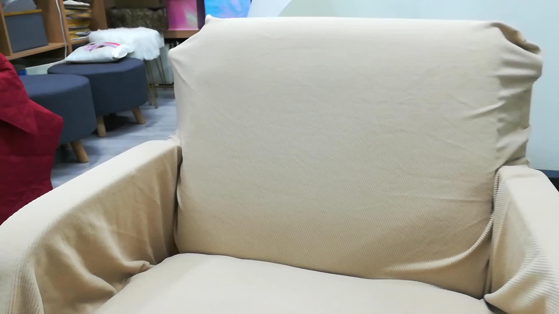 Spandex süet su geçirmez kayma kanepe örtüsü